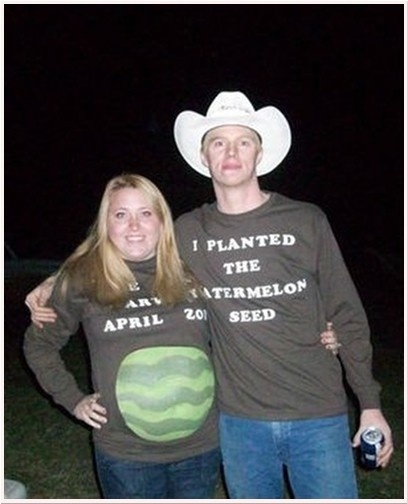 5 halloween costumes for pregnant women - Pregnant Halloween Couples Costumes