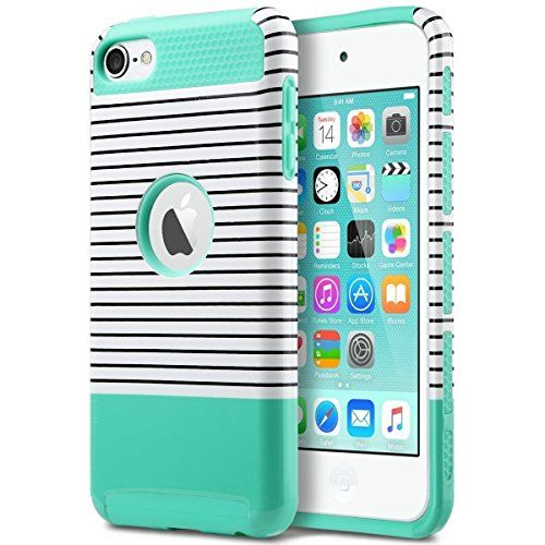 iPod 5 Case, ULAK iPod Touch 6 Case Dual Layer Hybrid Hard PC + TPU Protective Case Cover for Apple iPod touch 5th 6th Generation (Mint/White)