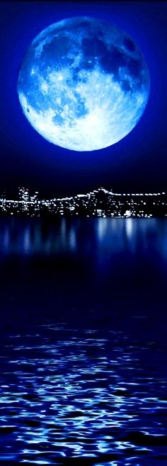 Blue moon over Manhattan  long pin flickr.com♔PM