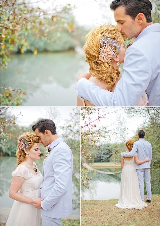 light blue wedding suit