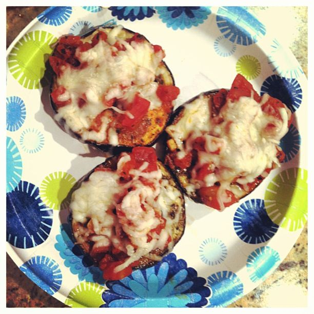 eggplant pizzas! | Food! | Pinterest | Healthy Eggplant, Eggplant ...