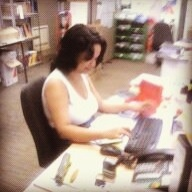 Kamisah, Magabala Books Sales & Admin Assistant hard at work