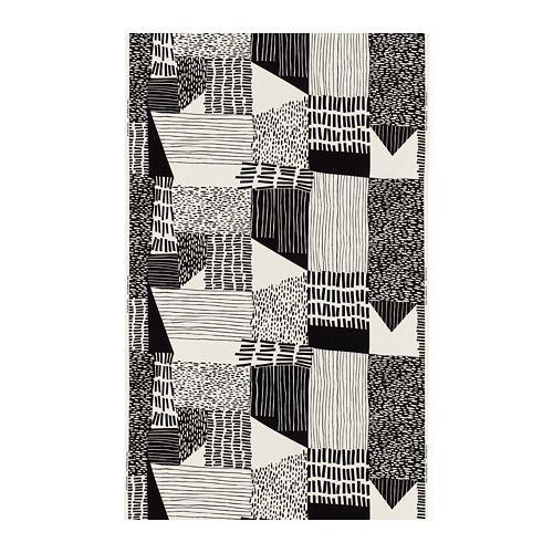 IKEA INGVILL Fabric White/black 150 cm