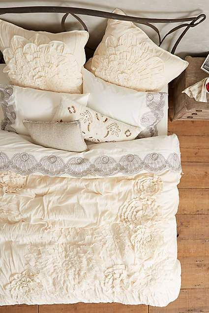 Anthropologie Bedding Georgina Duvet Cover in Cream 20% off Sale