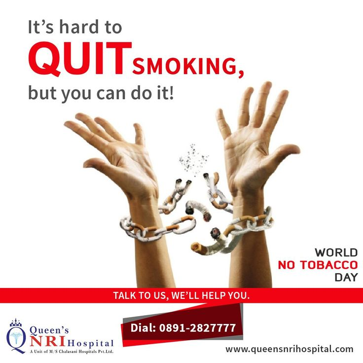Its Hard to QUIT #SMOKING, but you can do it!  #World No #Tobacco Day.  For more health updates follow us on: https://www.facebook.com/QueensNRIHospital/  Get appointments by dialing: 0891-2827777 || visit: www.queensnrihospital.com