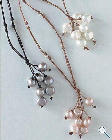 collar perlas racimo