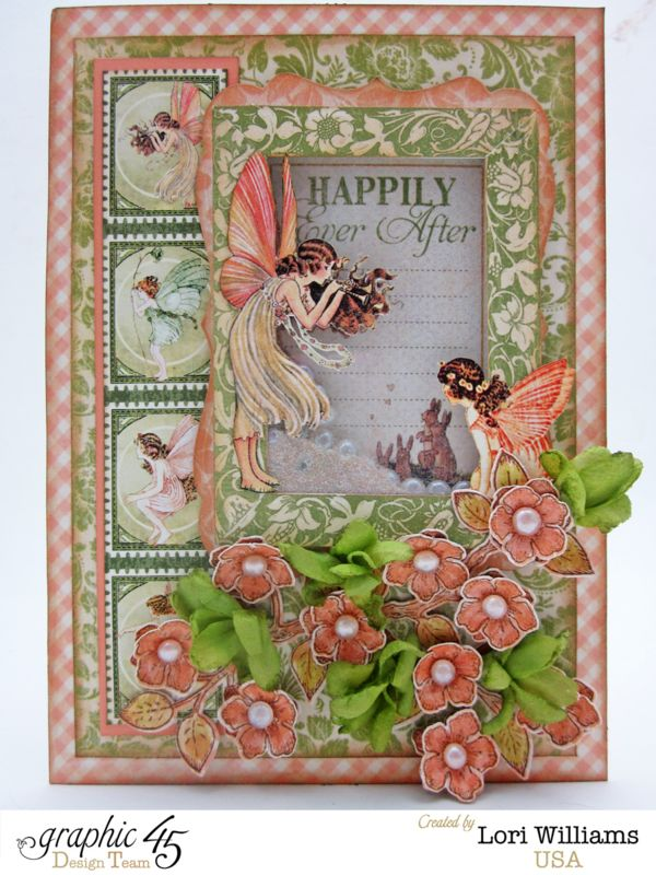 March 2015 G45 Once Upon a Springtime - Pearl & Glitter Shaker Spring Card with Snapguide Tutorial by Lori Williams