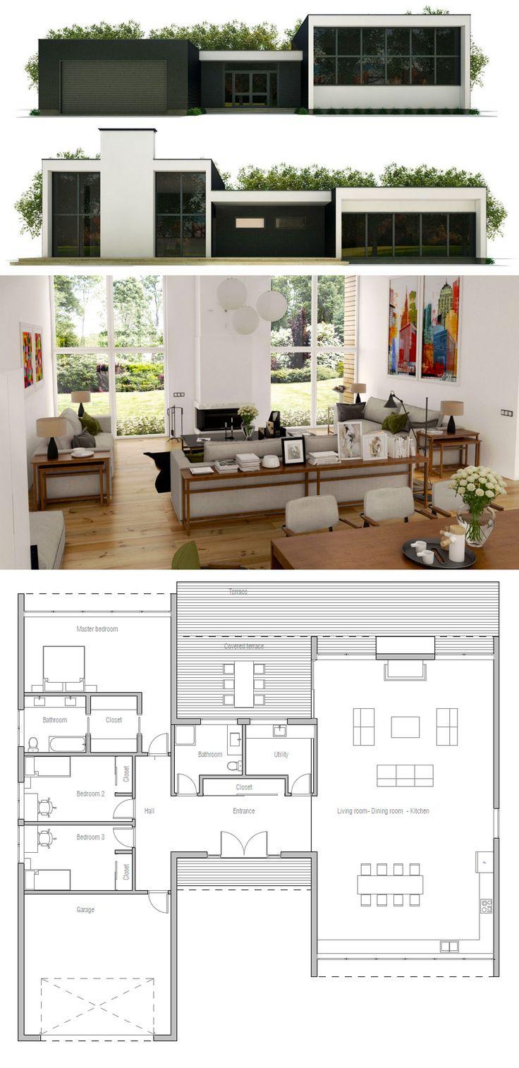 House Plan me gusta el living y su luminosidad, dps se pueden poner las habs arriba