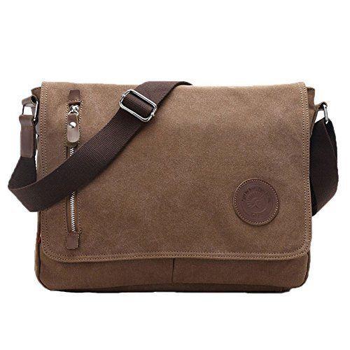 Laptop Bag Case Vintage High Quality Canvas & Leather Shoulder Straps Macbook  #LaptopBag