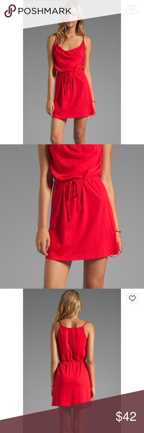 "Bobi Supreme Jersey Tie Waist Dress in ""Bali"" Vibrant red tie waist dress. Purchased from Revolve Clothing online. Bobi Dresses"