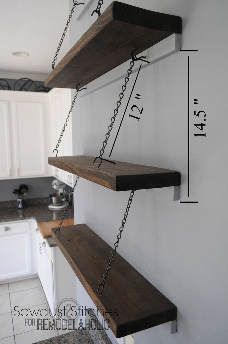 Suspended Shelving Sawdust2stitches For Remodelaholic Com