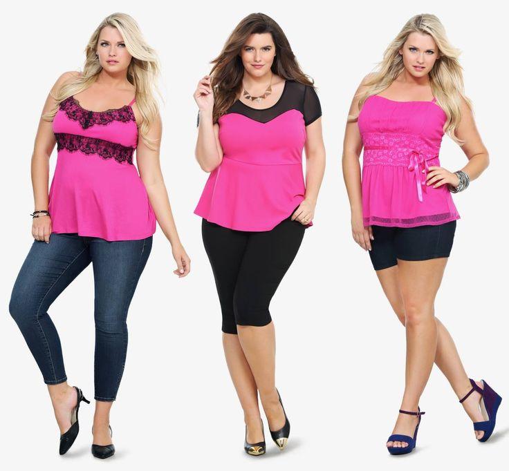 Torrid hot pink tops phat phashion pinterest hot pink tops pink tops and torrid Pink fashion and style pink dress