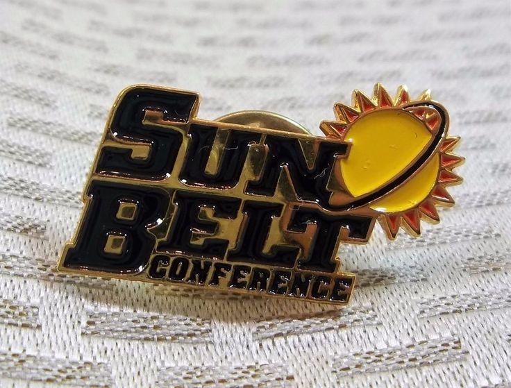 Sun Belt Conference Lapel Pin NCAA Old Logo