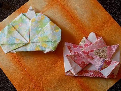 折り紙 雛(ひな)人形の折り方 hina doll - YouTube