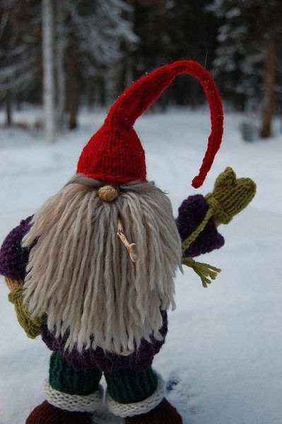 Knitted Gnome Christmastotem Pinterest Beautiful
