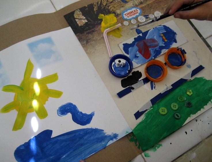 Train Art and other activities from #kbn - a great round up of ways to learn, play and create with trains.