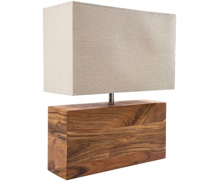 Bringen Sie Ihr Zuhause zum Strahlen: Die rechteckige Tischleuchte Rectangular Wood mit beigem Lampenschirm und Fuß aus Akazienholz sowie weitere Leuchten von KARE sind jetzt auf >> WestwingNow erhältlich.