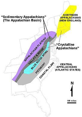 For a century, the Appalachians were a barrier to the westward expansion of the British colonies. The continuity of the mountain system, the bewildering multiplicity of its succeeding ridges, the tortuous courses and roughness of its transverse passes, a heavy forest, and dense undergrowth all conspired to hold the settlers on the seaward-sloping plateaus...