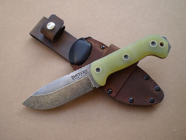 Ka Bar Becker Bk2 Knife Mod Leather Clad Kydex Sheath