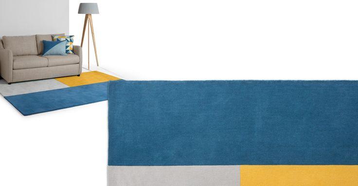 Elkan getufteter Teppich 120 x 170 cm, Blau