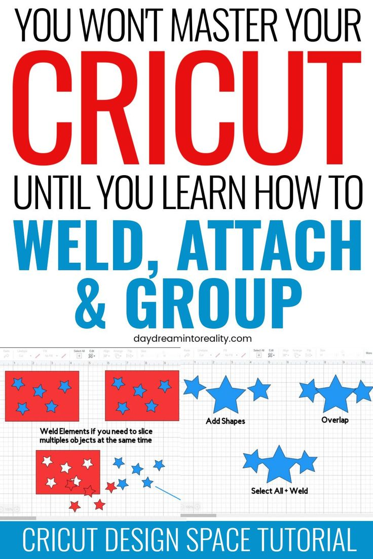 What Do Weld, Attach, and Group mean on Cricut A MUST