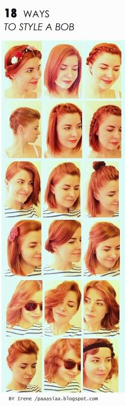 Different ways to style a bob.