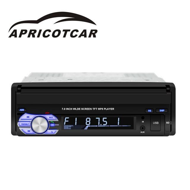 Auto Parts 7 Inch Retractable Screen Bluetooth MP5 Player MP3 Card Radio Car Audio and Video GPS Navigation Integrated Machine