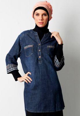 Cosmopolite | kemeja jeans kombinasi