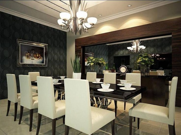 Gorgeous Dining Room Ideas With Modern Wallpaper Interior Design Small