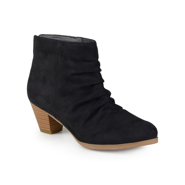 Journee Collection Jemma Women's Slouch Ankle Boots, Teens, Size: 7.5, Black