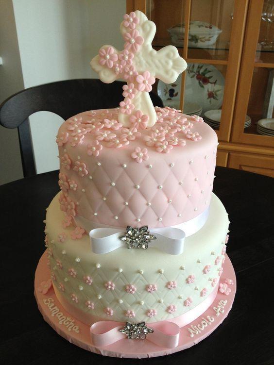 Resultado de imagen para bautizo ni a decoracion pastel - Decoracion bautizo nina ...