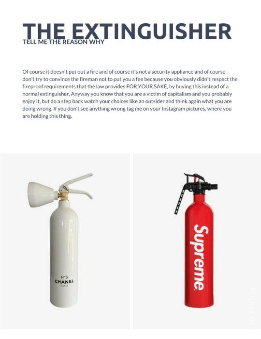 Supreme vs. Chanel extinguisher