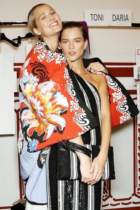 Etro Spring 2013 Ready-to-Wear Backstage