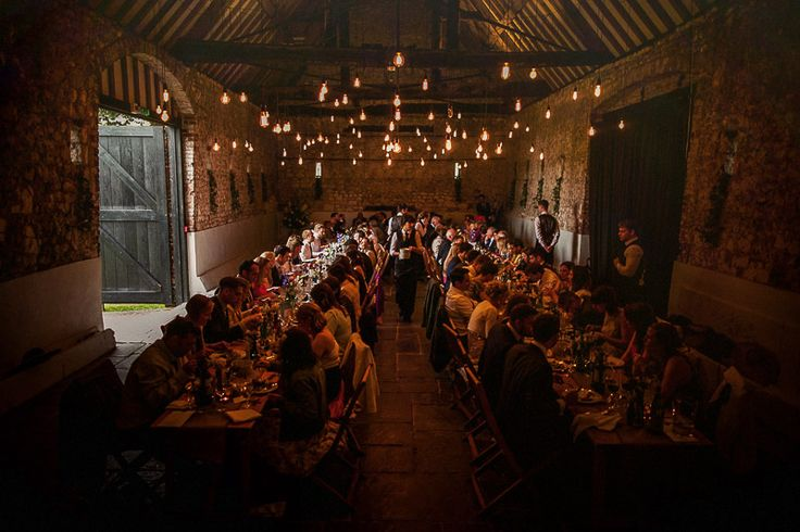 Photo credit : Matt Parry Photography. Oakwood Events bare bulb canopy at the Monks Barn Hurley.
