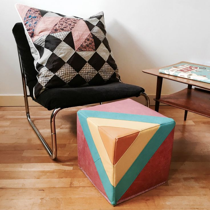 Leather Footstool | Quilted Leather Pouf in Bright Candy Colours | Leather Ottoman | Pouffe | Handmade Footstool | Housewarming Gift by ByLawLondon on Etsy https://www.etsy.com/uk/listing/276068156/leather-footstool-quilted-leather-pouf