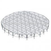 Strong aluminum assembling stage for concert event