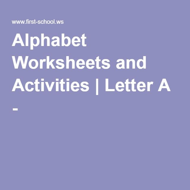 Alphabet Worksheets and Activities | Letter A - H
