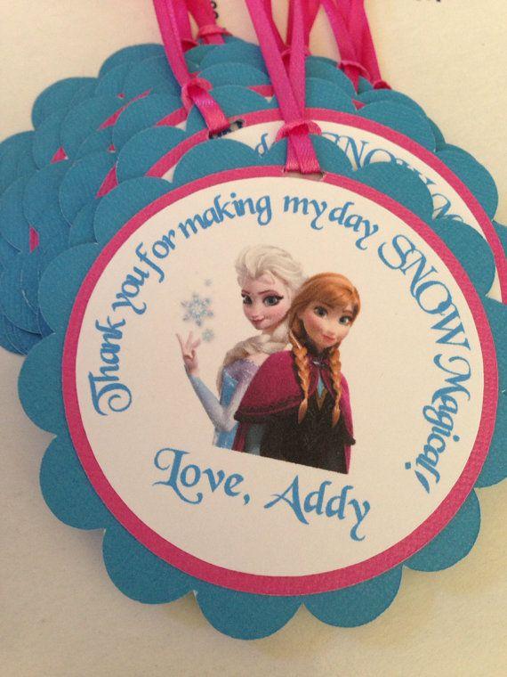 Frozen Birthday favor tags, frozen happy birthday, disney frozen birthday tags
