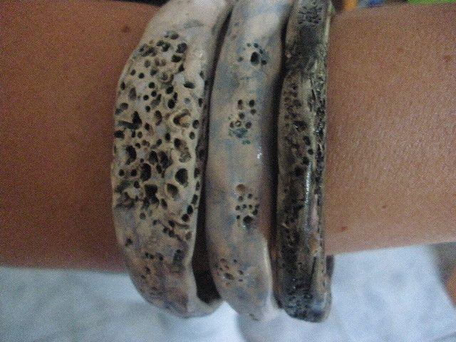 Anna Chronaki - Ceramic bangles.