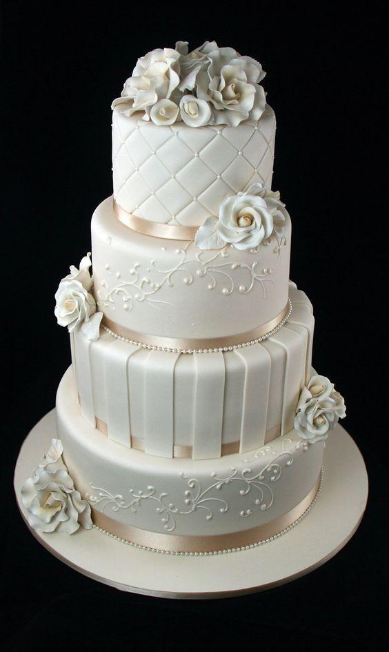 26 beste weiße Hochzeitstorte Design für traditionelle Hochzeit traditional wedding cakes