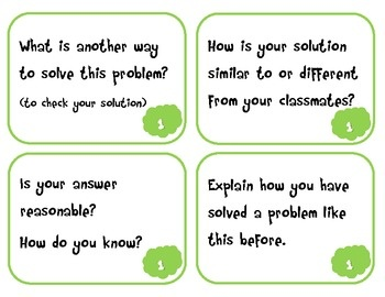 The following task cards are an engaging way to utilize the mathematical practices in the classroom, as students encounter rich tasks and problems.