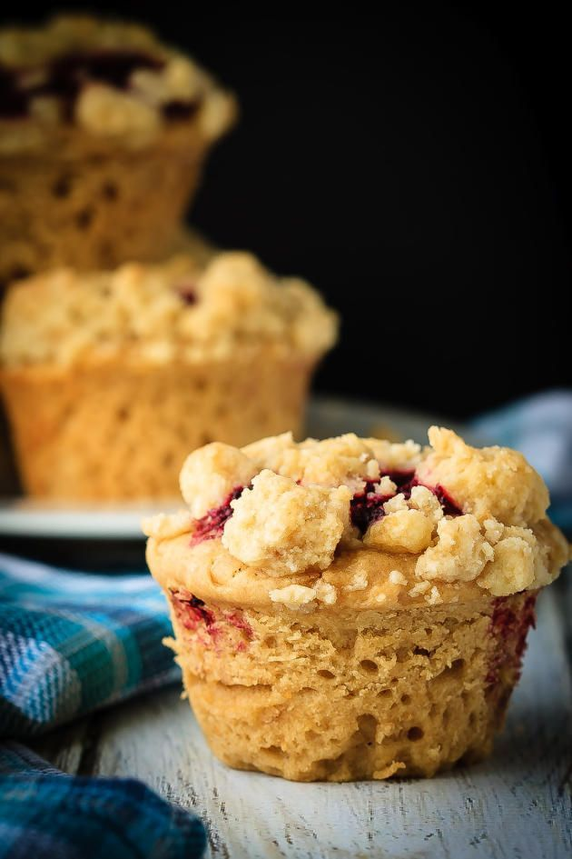 Peanut Butter and Jelly Muffins have a crumb topping that's irresistible. A great start to your morning.