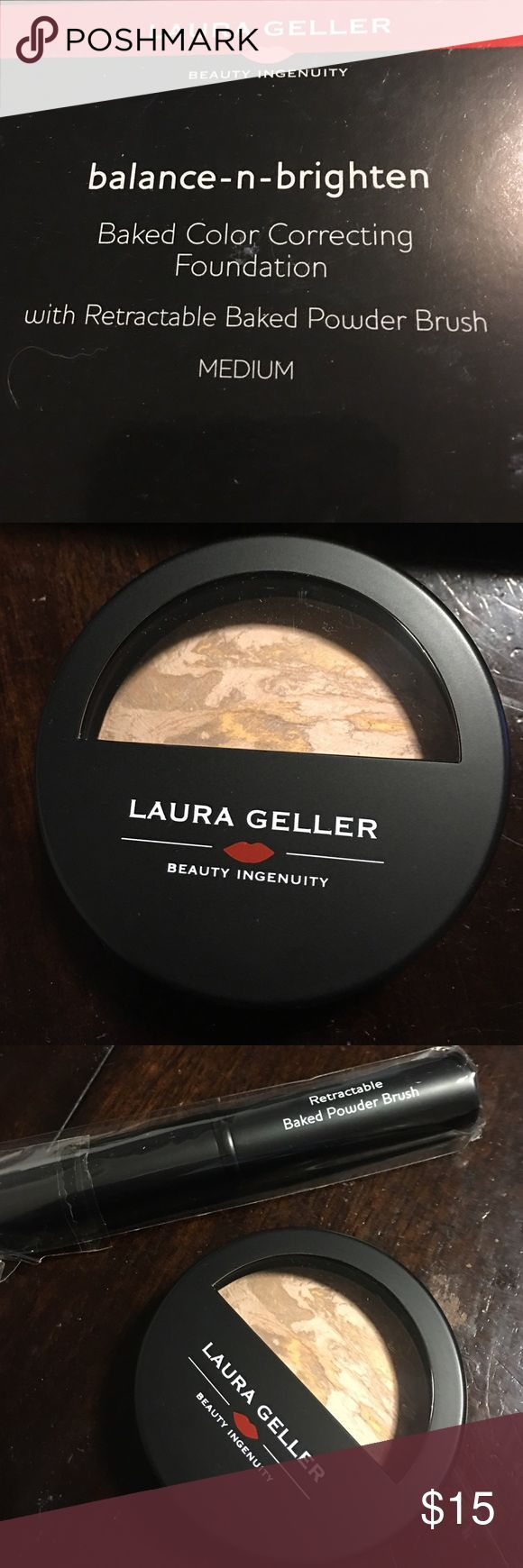 Laura Geller foundation Laura Geller baked color correcting foundation with retractable brush Makeup Foundation