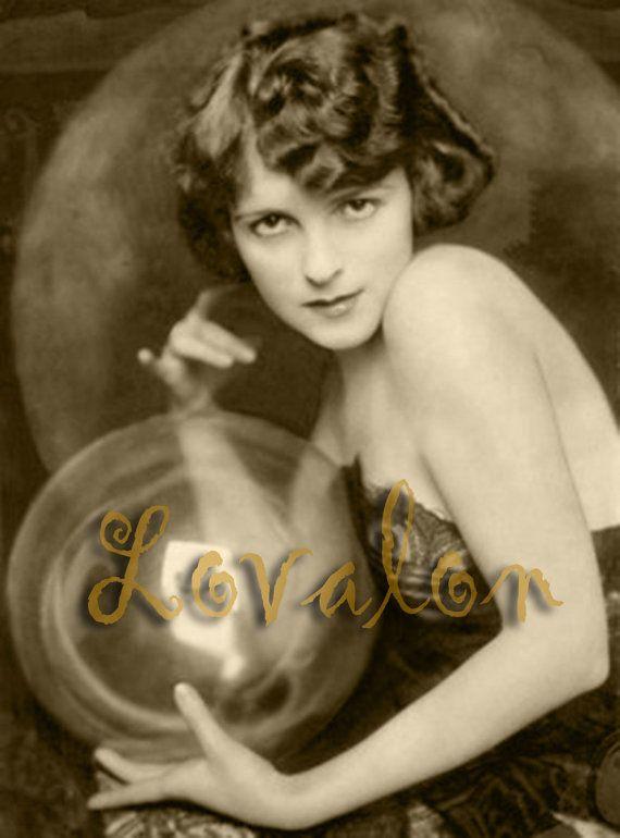 MATURE... Crystal Gazer... Vintage Erotic Photography... Digital Download Image by Lovalon