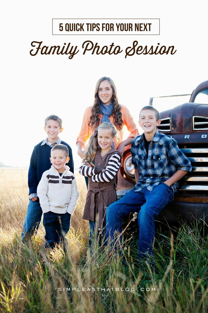 5 Quick tips for your next Family Photo Session