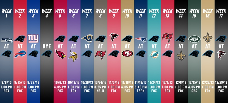 Here it is! The Panthers 2013 Schedule!   The first home opener since 2009 and two nationally televised games highlight the Panthers schedule this year.