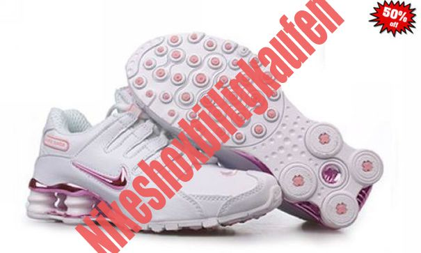 2014 Nike Shox R4 Schuhe Damen Weiß Rosa WGZR 5890025