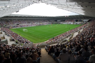 Swansea's Liberty Stadium, home of Swansea City FC and the Ospreys regional rugby team.