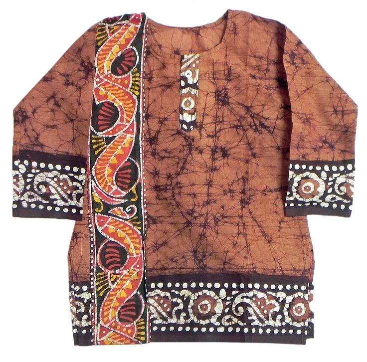 Brown Batik Kurta (Cotton)