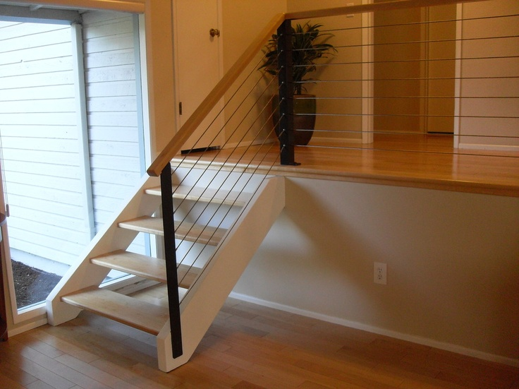 Wood U0026 Cable   Contemporary   Staircase   Portland   Portland Stair Company